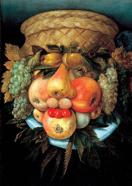 Fruit Basket by Giuseppe Arcimboldo