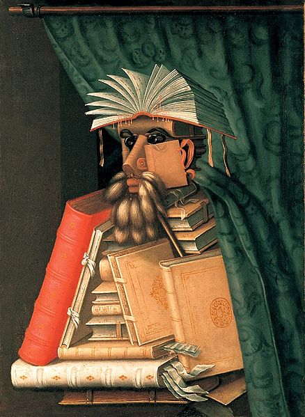The Librarian by Giuseppe Arcimboldo