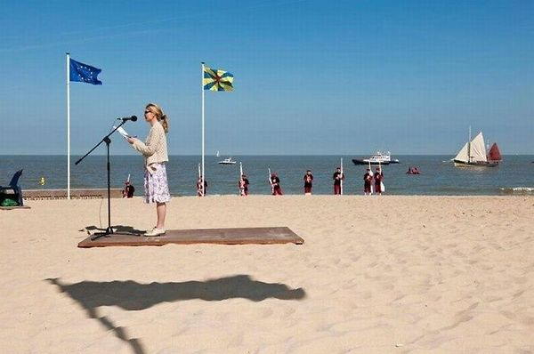 Flying Carpet Optical Illusion