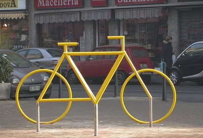 Bicycle Sculpture Optical Illusion #1