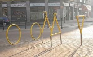 Bicycle Sculpture Optical Illusion #2