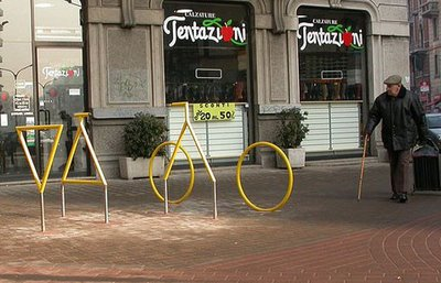 Bicycle Sculpture Optical Illusion #3