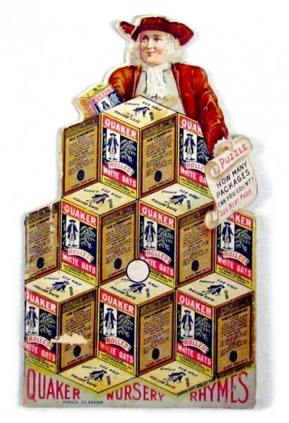 Vintage Quaker Oats Optical Illusion