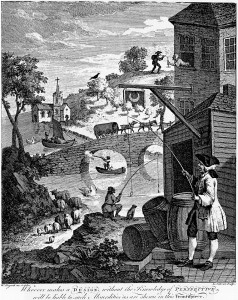 Satire on False Pespective by William Hogarth