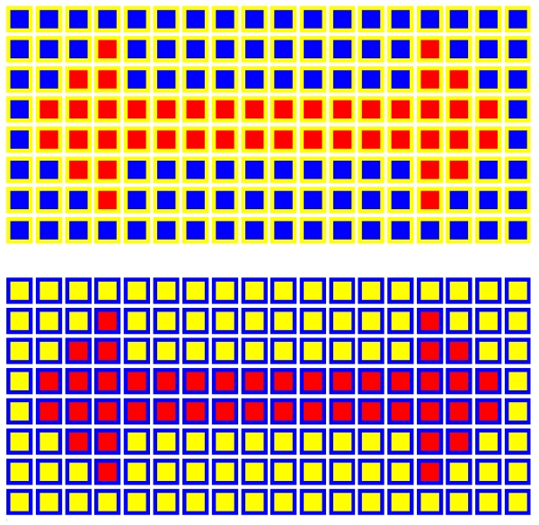 Orange and Red Squares