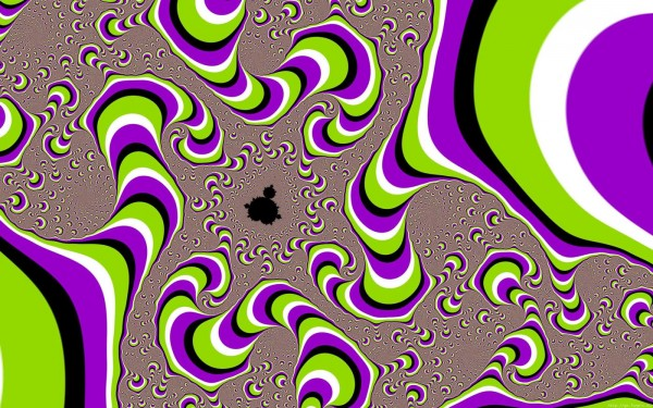 Psychedelic Screen Melt Motion Illusion
