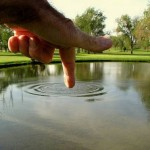 Ripple Forced Perspective Photograph