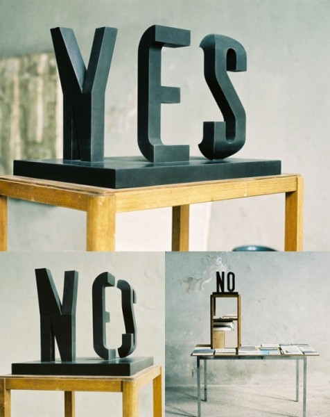 Yes/No by Markus Raetz
