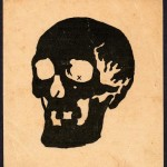 Vintage Skull Afterimage Illusion