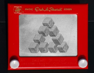 Impossible Triangle on an Etch-A-Sketch