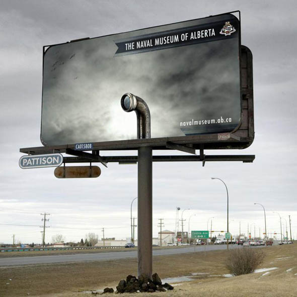 Optical Illusion Billboard for a Naval Museum