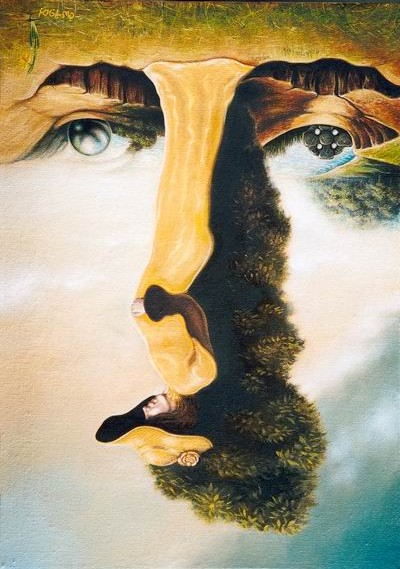 illusion optical illusions hidden face inverted faces painting paintings couple invisible upside down permalien ilusion igor lysenko cool integree drawings