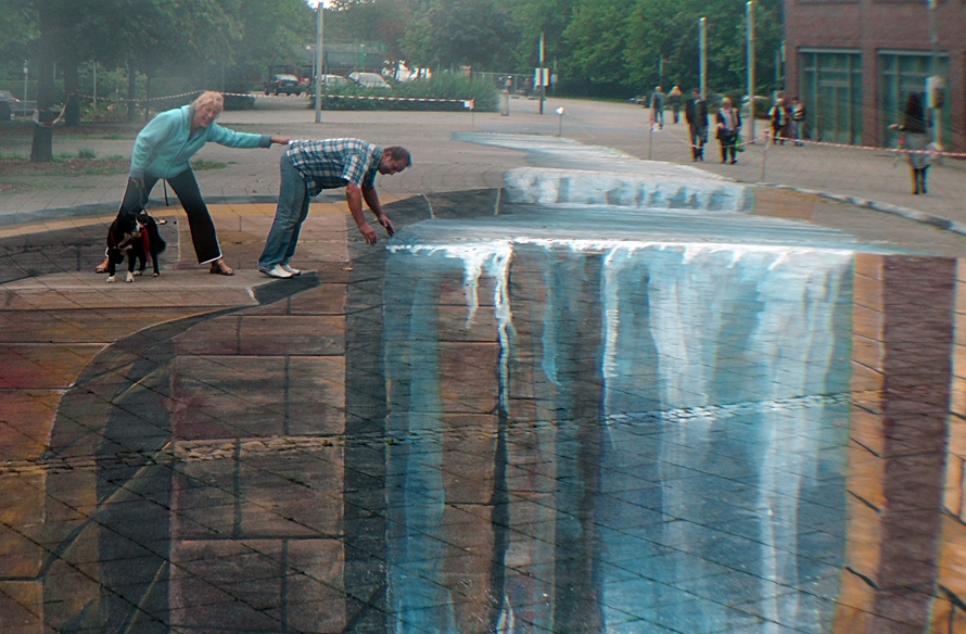 3d street painting by gregor wosik 3 an optical illusion for 3d street painting mural art
