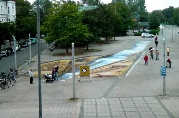 3D Street Painting by Gregor Wosik 5