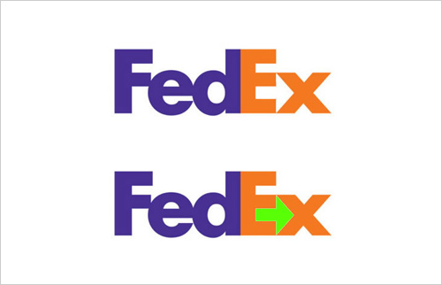 fedex logo optical illusion
