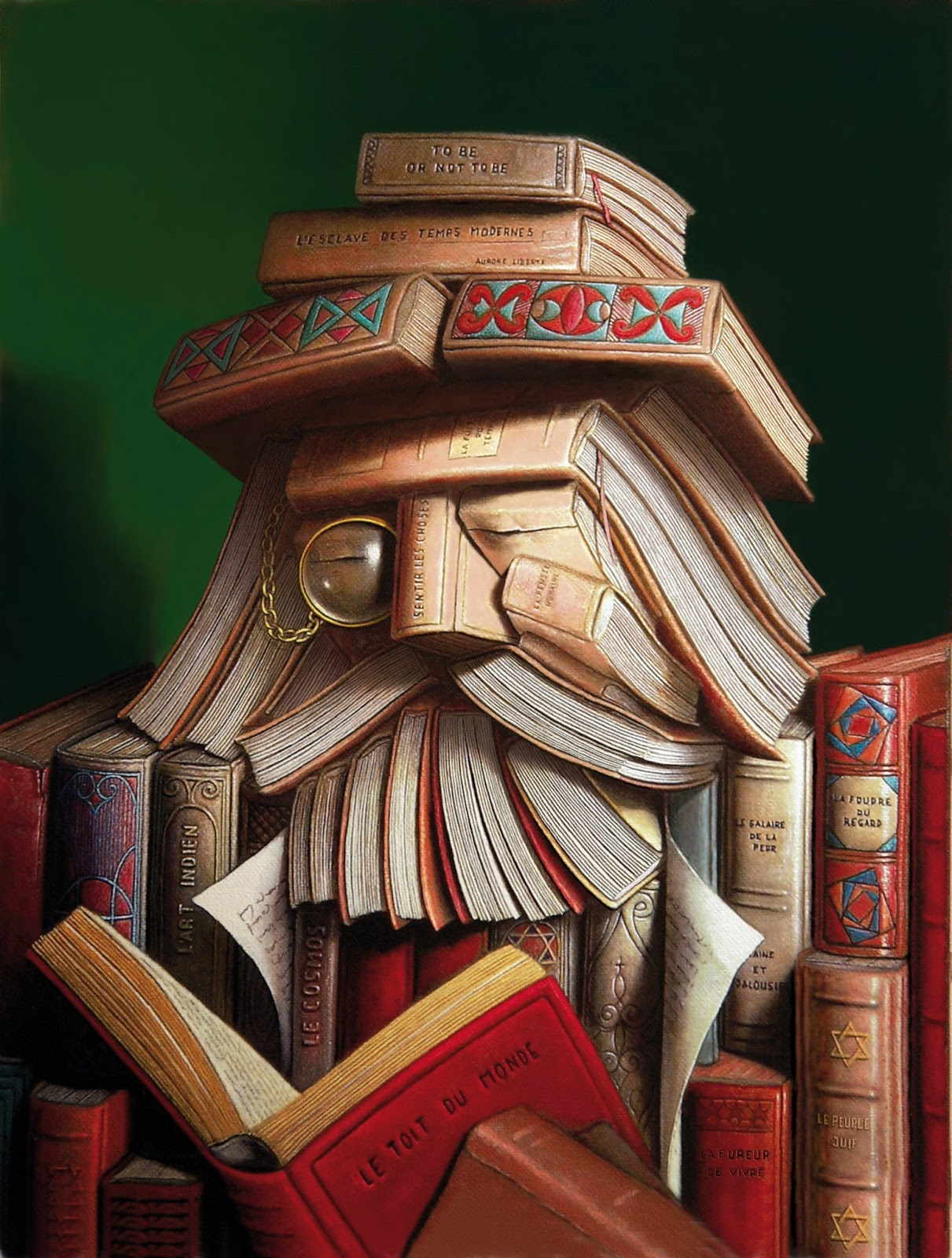 The Librarian By Andre Martins De Barros An Optical Illusion