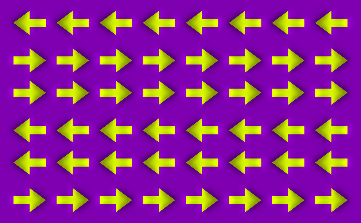 Moving Arrows Optical Illusion on Cool Tessellations