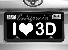vanity plate stereogram by gene levine reveal
