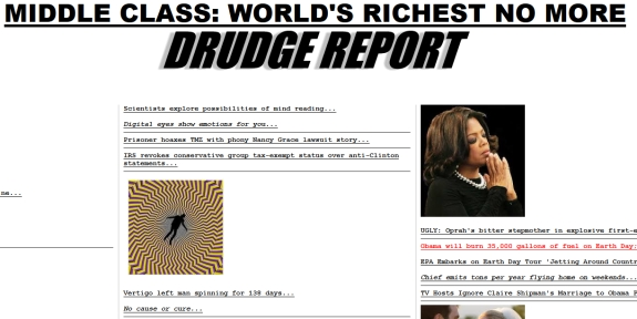 vertigo optical illusion on homepage of drudge report