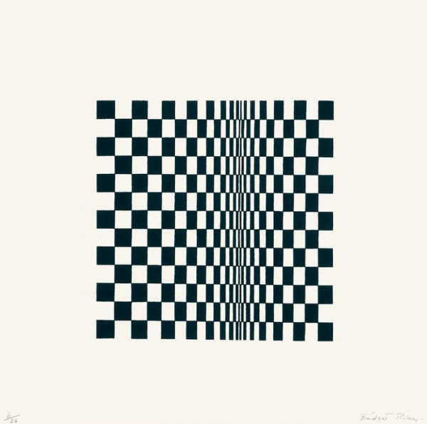 Bridget Riley - Untitled [Based on 'Movement in Squares]  1962