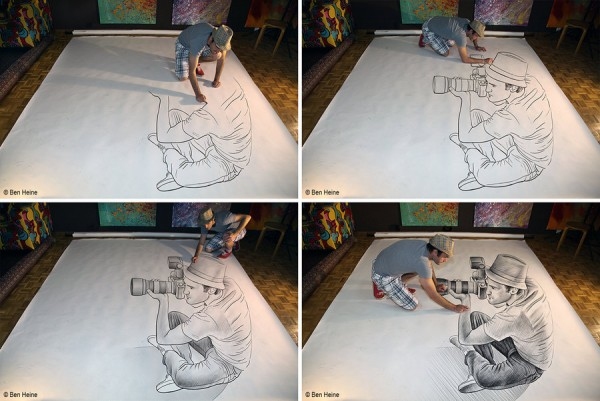 Pencil Vs Camera - 73 by Ben Heine (Sketch in Progress)