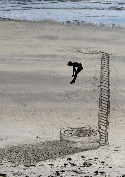 3D Beach Art by Jamie Harkins