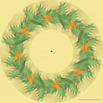 Moving Wreath Optical Illusion