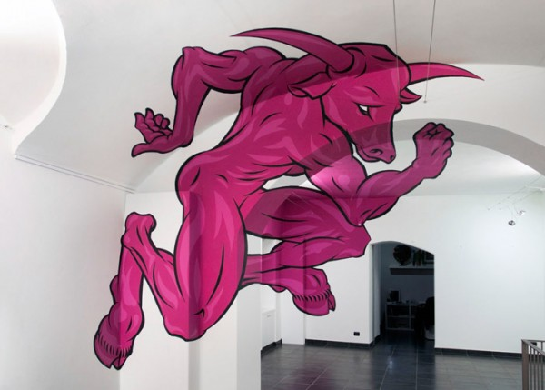 Minotaur Anamorphic Painting by Truly Design #1