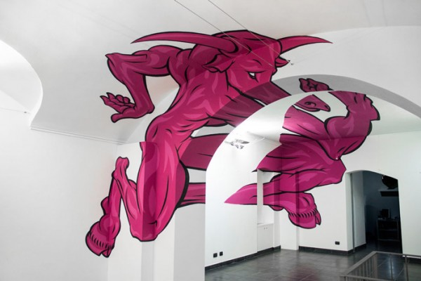 Minotaur Anamorphic Painting by Truly Design #3