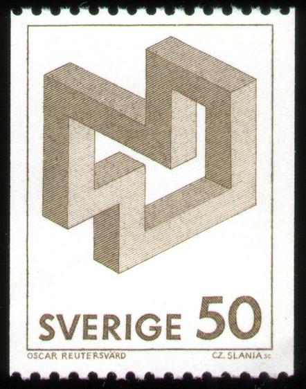 Oscar Reutersvard Stamp #1