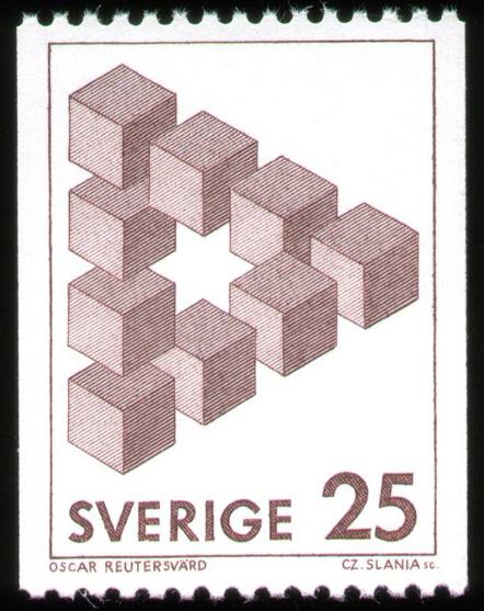 Oscar Reutersvard Stamp #2