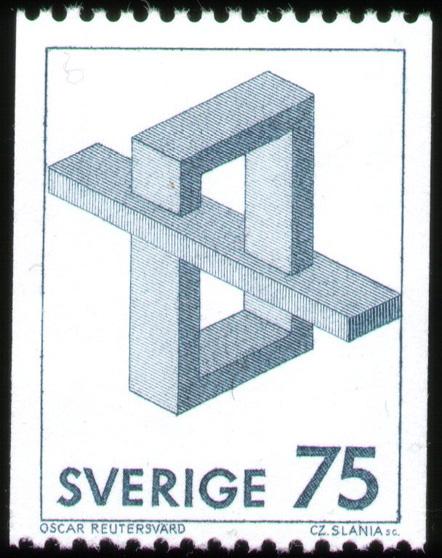Oscar Reutersvard Stamp #3