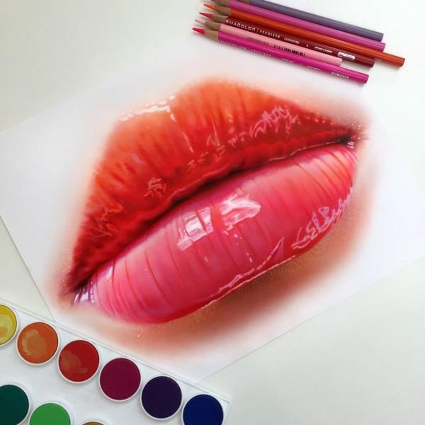 Lip Study by Morgan Davidson
