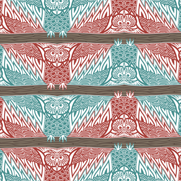 Owl Tessellation by Nikita Prokhorov