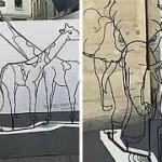 Giraffe and Elephant Optical Illusion
