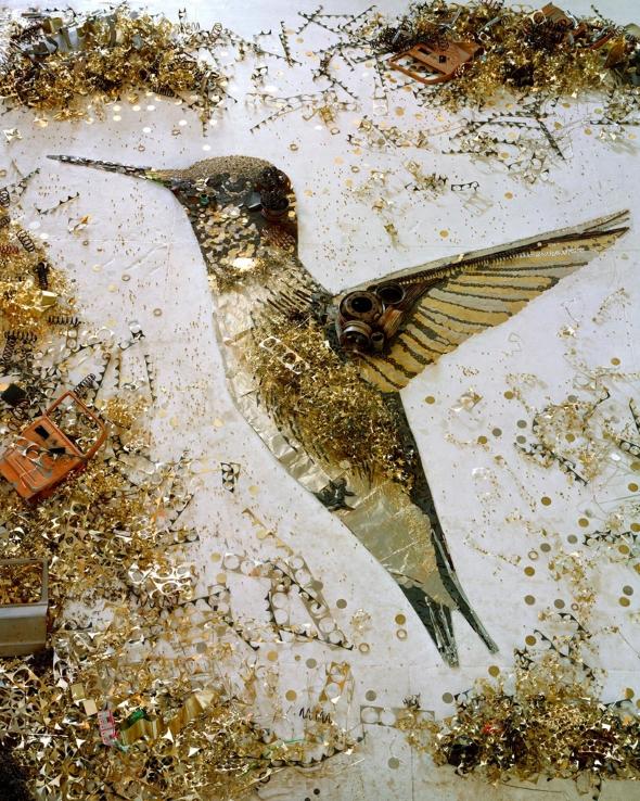 Hummingbird by Vik Muniz