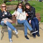 Three Girls on a Bench