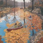 Fall Floating by Rob Gonsalves