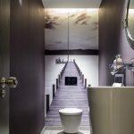 Optical Illusion Wallpaper in a Bathroom
