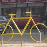 Bicycle Sculpture Optical Illusion #1