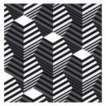 Double Truncated Pyramids - Op Art by Robin Hunnam