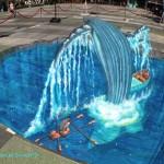 Life of Pi Sidewalk Chalk Art by Tracy Lee Stum