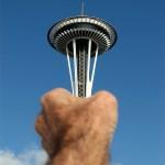 Grabbing the Tower Optical Illusion