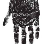 Tiger Hand Print Illusion
