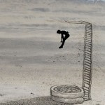 Anamorphic Beach Art by Jamie Harkins