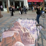 Grand Canyon Street Painting by Tracy Lee Stum