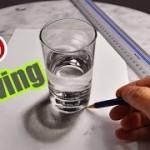 Anamorphic Glass of Water