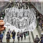 Pencil Vs Camera - HK by Ben Heine