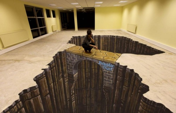 bathroom floor illusions amazing 3d floors an optical illusion 10645