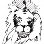 Young Lady / Lion by Arvind Narale